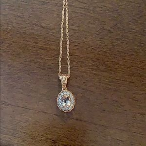 New rose gold and gem necklace